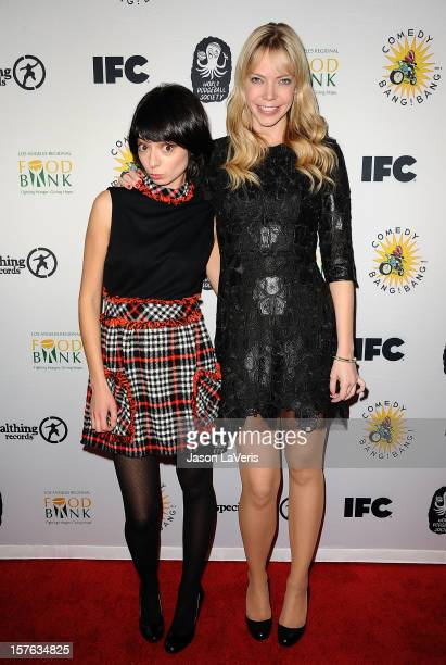 Kate Micucci and Riki Lindhome of Garfunkel and Oates attend IFC's 2012 Comedy Bang Bang Nativity Pageant Holiday Comedy Show benefiting the LA...