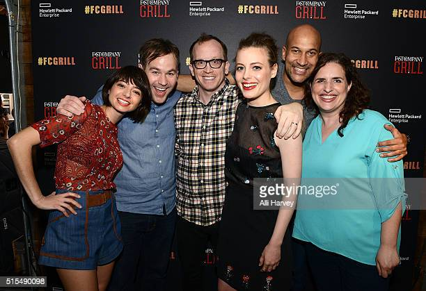 Kate Micucci Mike Birbiglia Chris Gethard Gillian Jacobs KeeganMichael Key and Tami Sagher attend the Fast Company Grill with Bella Thorne Kian...