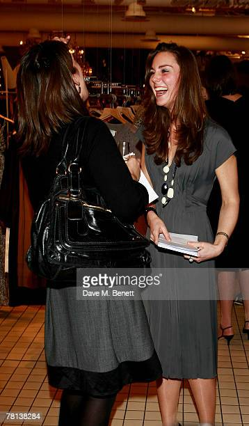 Kate Middleton and guest attend the book launch party of 'Time To Reflect' by photographer Alistair Morrison at Bluebird on November 28 2007 in...