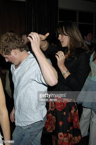 Kate Middleton and Guy Pelly dance at the Sony Ericsson WTA Tour's preWimbledon party hosted by Sir Richard Branson of Virgin at The Roof Gardens on...
