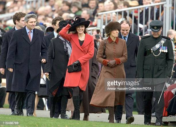 Kate Middleton and her family attend the Sovereign's Parade on December 15, 2006 at the Royal Military Academy in Sandhurst.