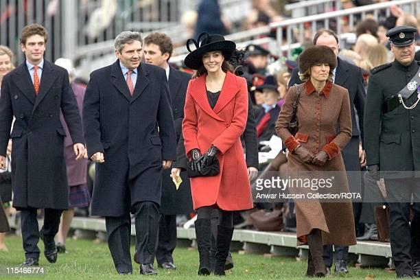 Kate Middleton and her family attend the Sovereign's Parade on December 15 2006 at the Royal Military Academy in Sandhurst