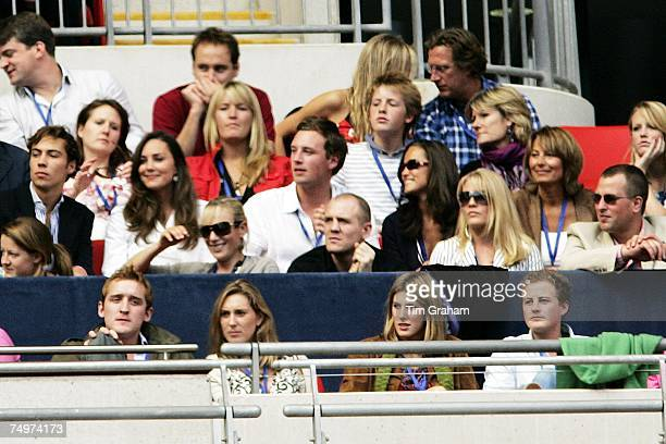 Kate Middleton and her parents Carole and Michael join Zara Phillips Mike Tindall Peter Phillips and his girlfriend Autumn Kelly in the Royal Box at...