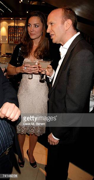 Kate Middleton and journalist Simon Sebag Montefiore attend the book launch party of The Young Stalin The Adventurous Early Life Of The Dictator...
