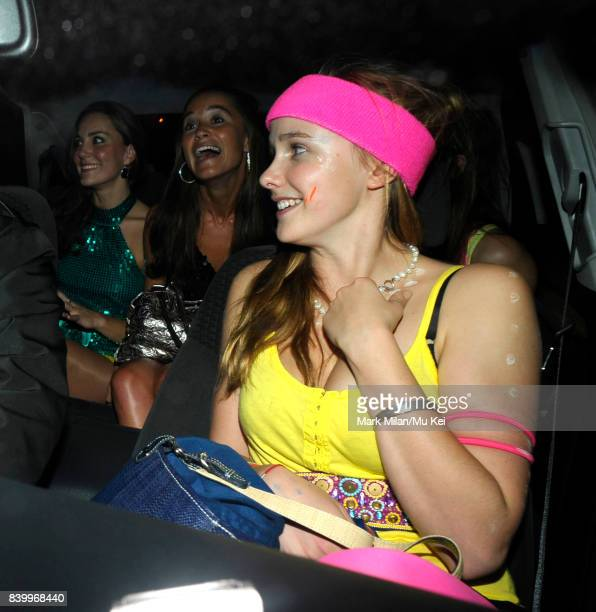Kate Middleton and Pippa Middleton attend the DayGlo Charity Roller Disco at the Renaissance Rooms in Vauxhall on September 17 2008 in London England