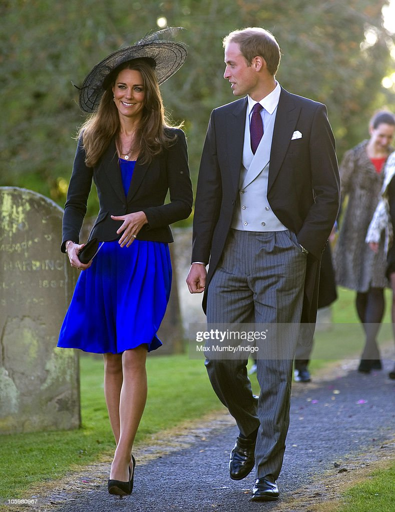 Prince William and Kate Middleton Attend Harry Meade And Rosie Bradford's Wedding : News Photo