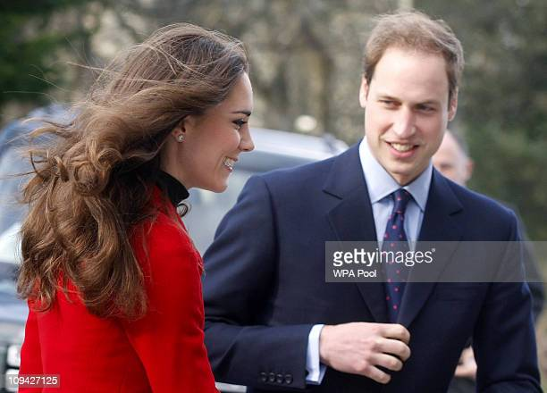Kate Middleton and Prince William during a visit to the University of St Andrews on February 25 2011 in St. Andrews, Scotland. Kate and William first...