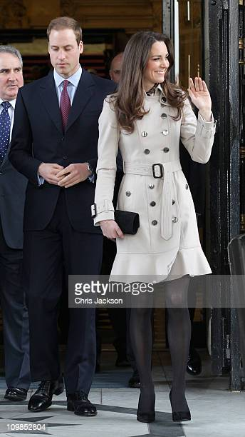 Kate Middleton and Prince William visit City Hall on March 8 2011 in Belfast Northern Ireland The Royal Couple are visiting Northern Ireland as part...