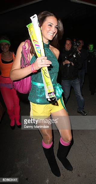 Kate Middleton arrives at the DayGlo Midnight Roller Disco at The Renaissance Rooms on September 17 2008 in London England