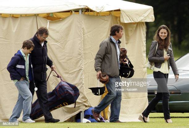 Kate Middleton attends a charity polo match at Cirencester Park Polo Club on June 7 2009 in Cirencester England