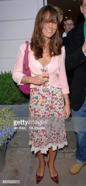 Kate Middleton attends a party to celebrate the opening of The Shop at The Bluebird Kings Road west London