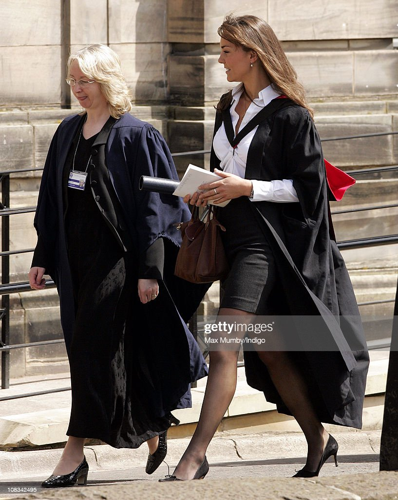 Kate Middleton Attends Her Graduation Ceremony At The University Of St Andrews Where She