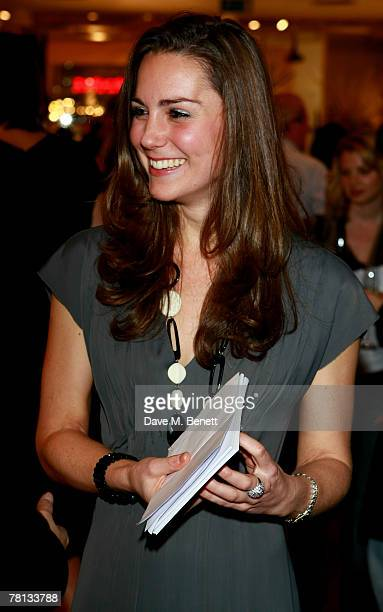 Kate Middleton attends the book launch party of 'Time To Reflect' by photographer Alistair Morrison at Bluebird on November 28 2007 in London England