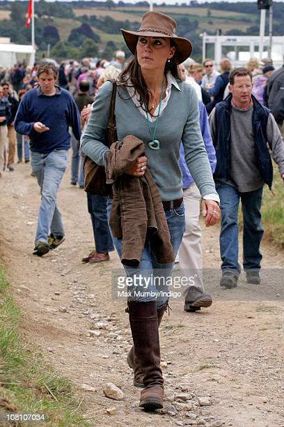 Kate Middleton attends the Festival of British Eventing at Gatcombe Park on August 6 2005 in Stroud England
