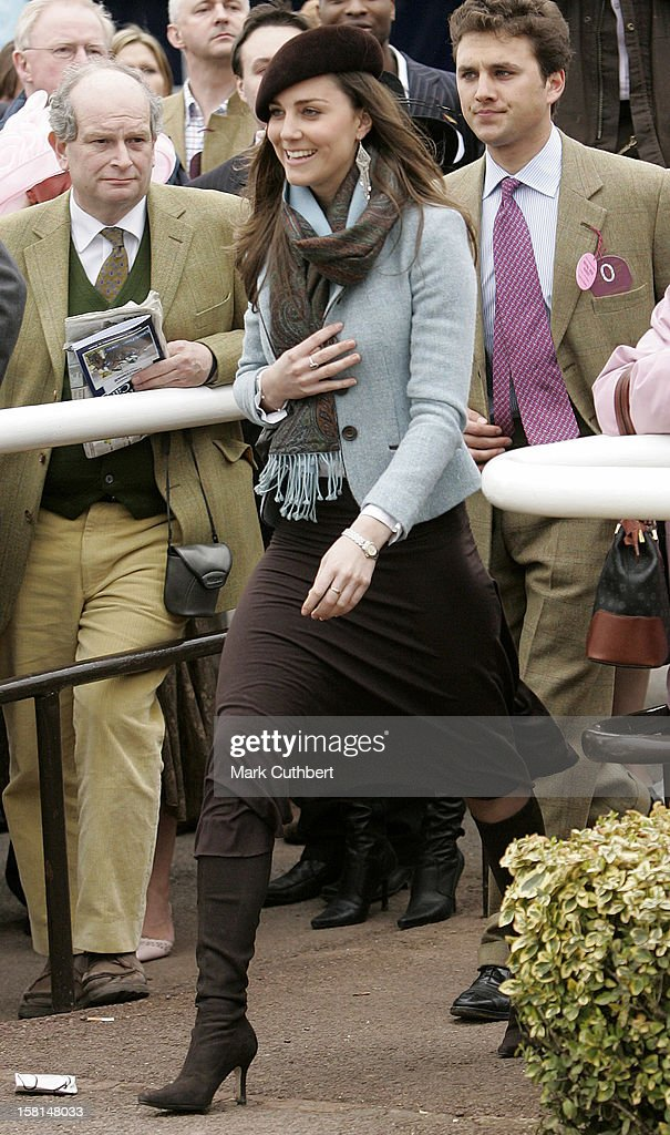 Kate Middleton Attends The Forth Day Of The Cheltenham Festival Race Meeting. .