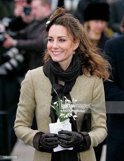 Kate Middleton attends the Naming Ceremony and Service of Dedication of the Atlantic 85 Lifeboat 'Hereford Endeavour' at Trearddur Bay Lifeboat...