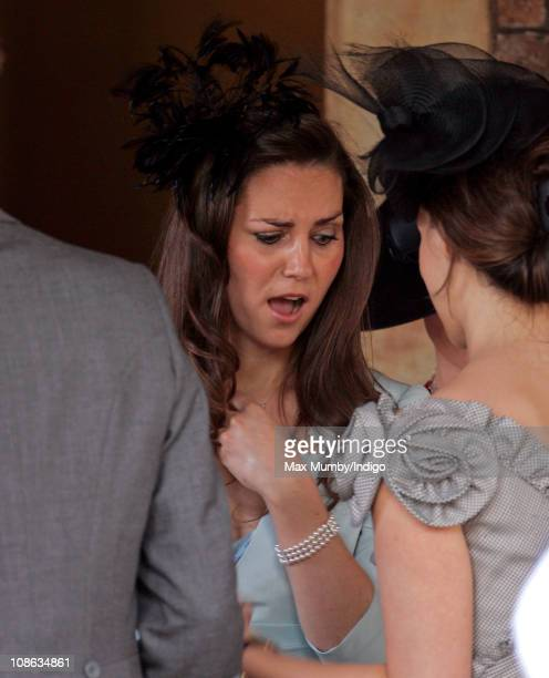 Kate Middleton attends the wedding of Lady Rose Windsor and George Gilman at The Queen's Chapel St James's Palace on July 19 2008 in London England
