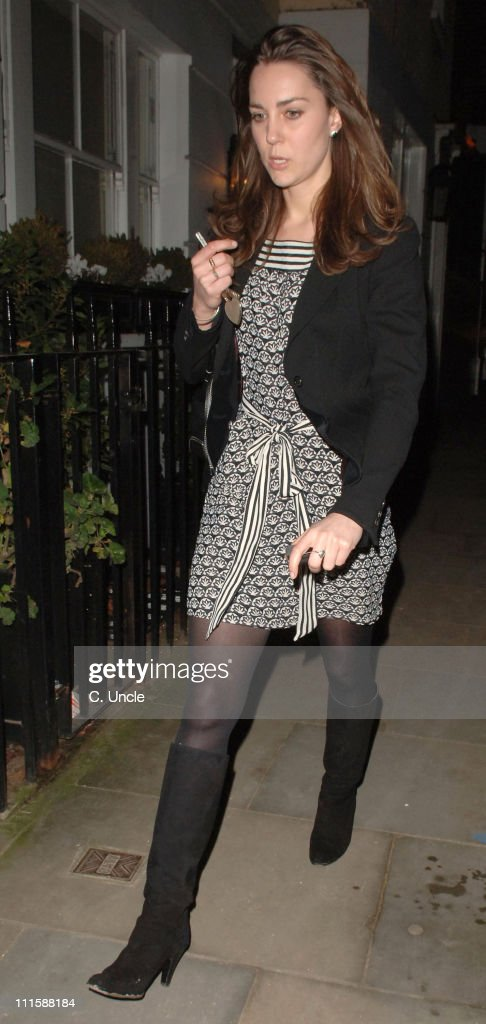 Kate Middleton Sighting As She Arrives Home From Work - January 9, 2007 : News Photo