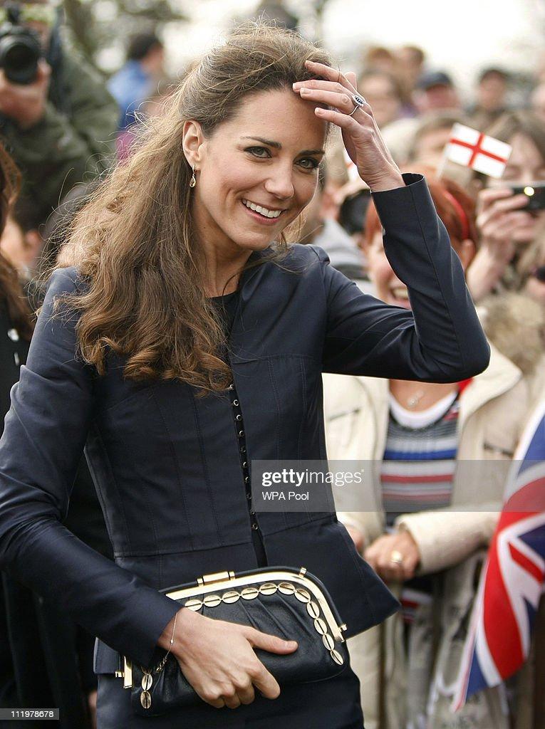 Prince William And Kate Middleton Visit Darwen : News Photo