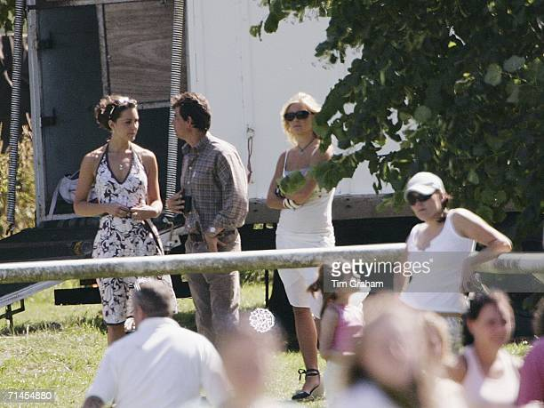 Kate Middleton, girlfriend of Prince William, and Chelsy Davy, girlfriend of Prince Harry, attend Tidworth Polo Club on July 15, 2006 in Tidworth,...