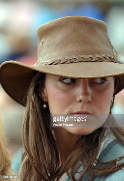 Kate Middleton girlfriend of Prince William attends the second day of the Gatcombe Park Festival of British Eventing at Gatcombe Park on August 6...
