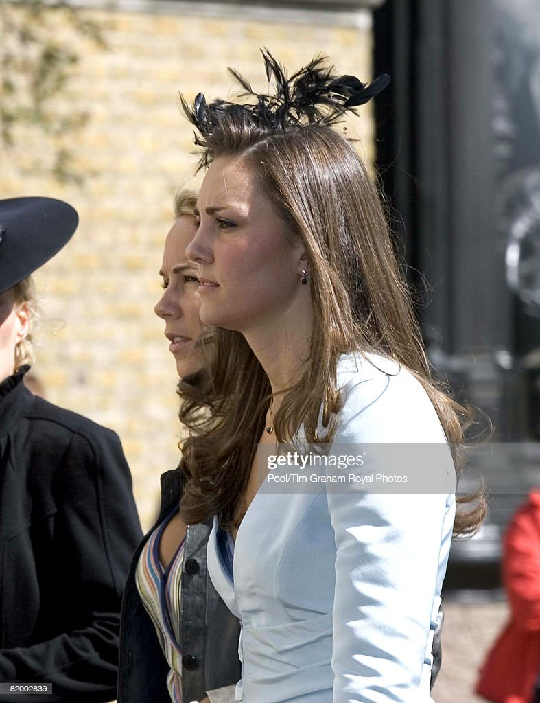 Kate Middleton girlfriend of Prince William attends the wedding of Lady Rose Windsor and George Gilman at the Queen's Chapel near St James's Palace on July 19, 2008 in London, England.