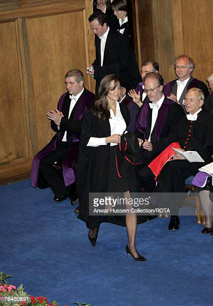 Kate Middleton, girlfriend of Prince William, during their graduation ceremony at St Andrews, Thursday June 23, 2005. William got a 2:1 in geography...