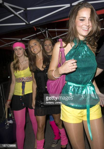 Kate Middleton Her Sister Pippa And Their Friends Arrive At The Renaissance Rooms In South London For The DayGlo Midnight Roller Disco An Event...