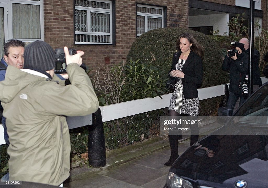 Kate Middleton Leaves Her Home In London'S Chelsea On Her 25Th Birthday : News Photo