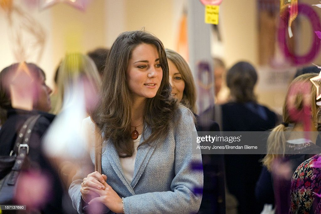 Kate Middleton & Mother Visit The Spirit Of Christmas Shopping Festival At London'S Olympia : News Photo
