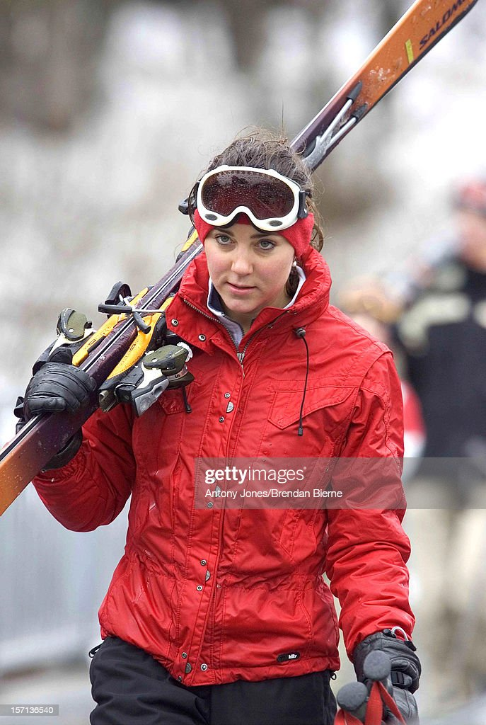 Kate Middleton Skiing In Klosters : News Photo