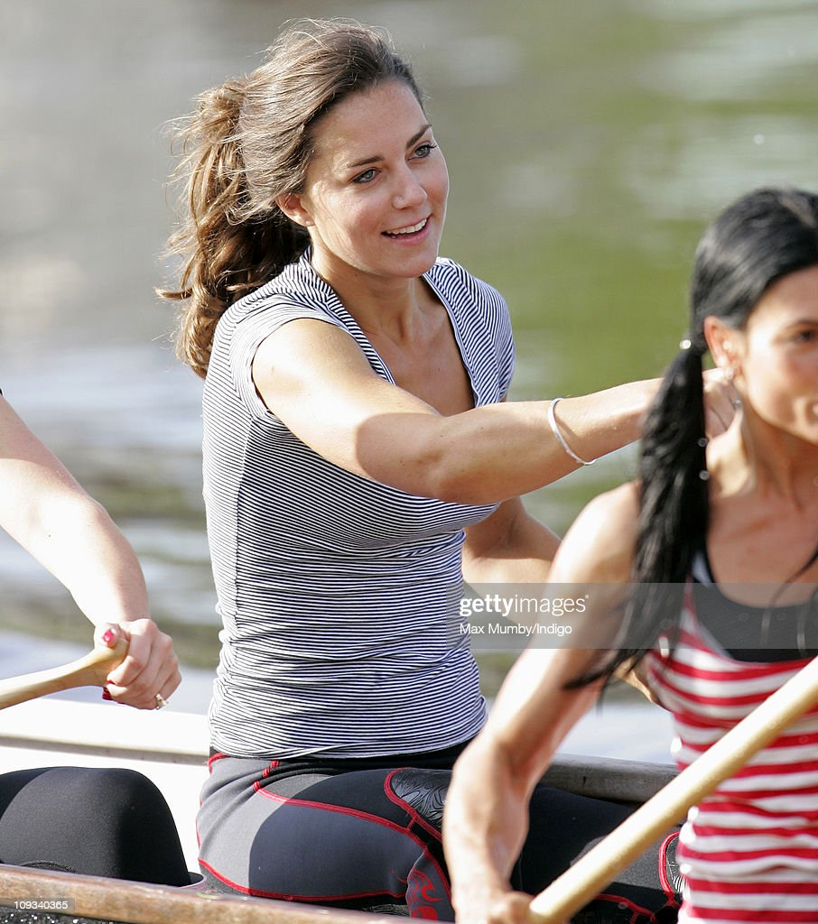 Kate Middleton Takes Part In A Training Session For The Sisterhood Cross Channel Rowing Challenge : News Photo