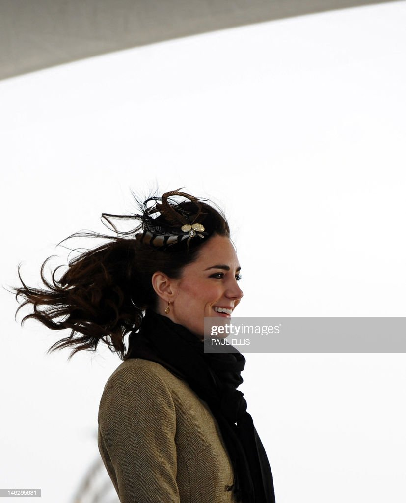 Kate Middleton, the fiancee of Britain's : News Photo
