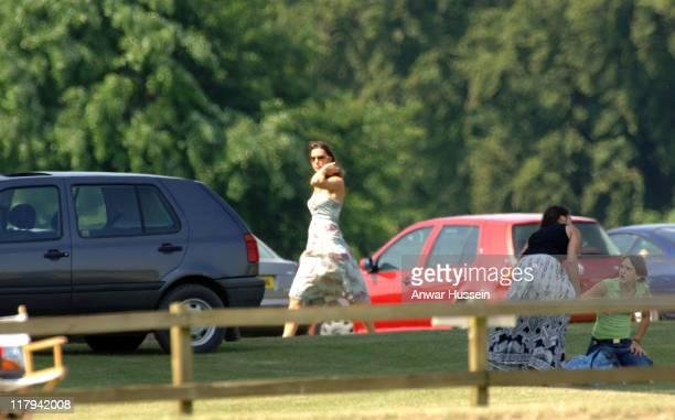 Kate Middleton watches Prince William play at Cirencester Park Polo Club on July 1 2006