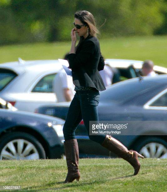 Kate Middleton watches Prince William play in the Audi Polo Challenge charity polo match at Coworth Park Polo Club on May 10 2009 in Ascot England