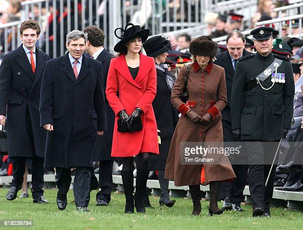 Kate Middleton with her parents Carole and Michael prospective Royal inlaws at the Sovereign's Parade at Sandhurst Military Academy for the...