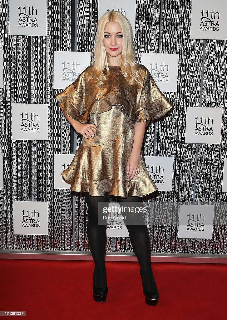 Kate Miller-Heidke arrives at the 11th Annual ASTRA Awards at Sydney Theatre on July 25, 2013 in Sydney, Australia.