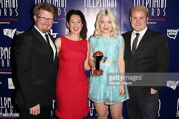 Kate MillerHeidke Lally Katz Ian Grandage and John Sheedy pose with their award for Best New Australian Work at the Capitol Theatre on July 27 2015...