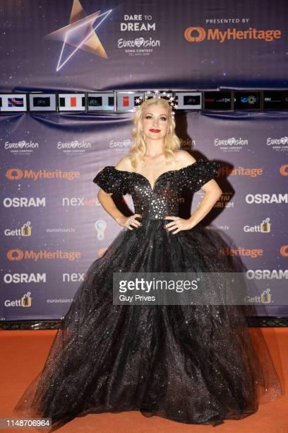 Kate MillerHeidke of Australia arrives at the 64th Eurovision Song held at Tel Aviv Fairgrounds on May 12 2019 in Tel Aviv Israel