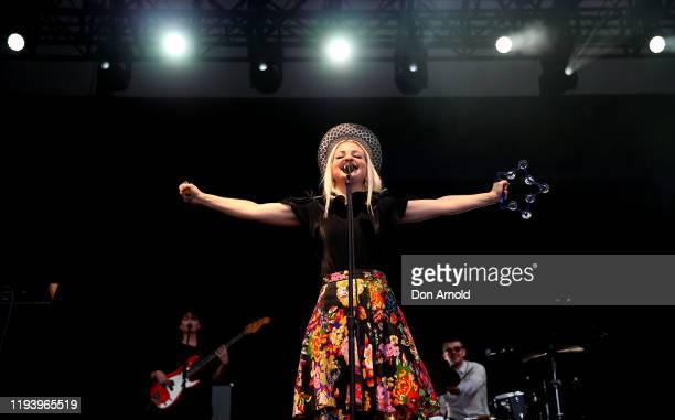 Kate MillerHiedke performs live in The Domain on December 14 2019 in Sydney Australia
