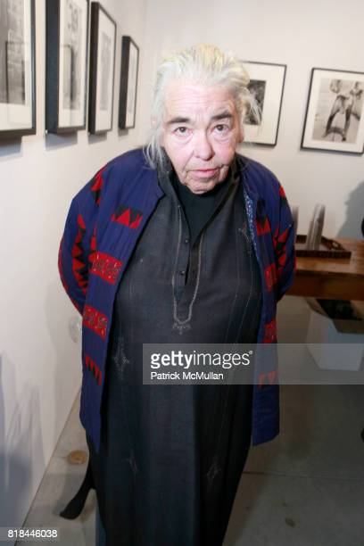 Kate Millett attends TIMOTHY GREENFIELDSANDERS And CYNTHIA MACADAMS Gallery Opening at Steven Kasher Gallery on January 28 2010 in New York City