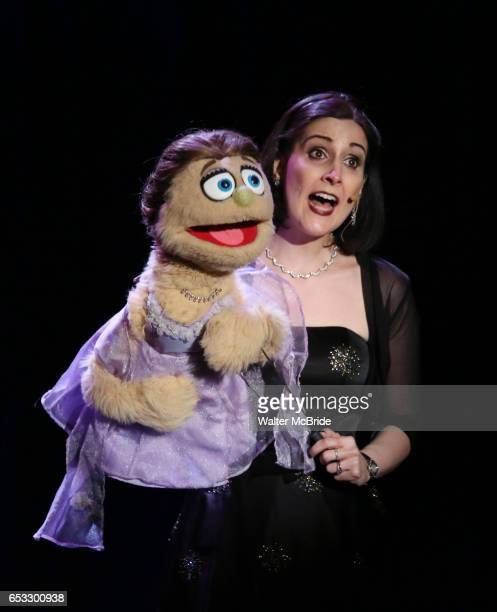 Kate Monster and Stephanie D'Abruzzo perform at the Vineyard Theatre 2017 Gala at the Edison Ballroom on March 13 2017 in New York City