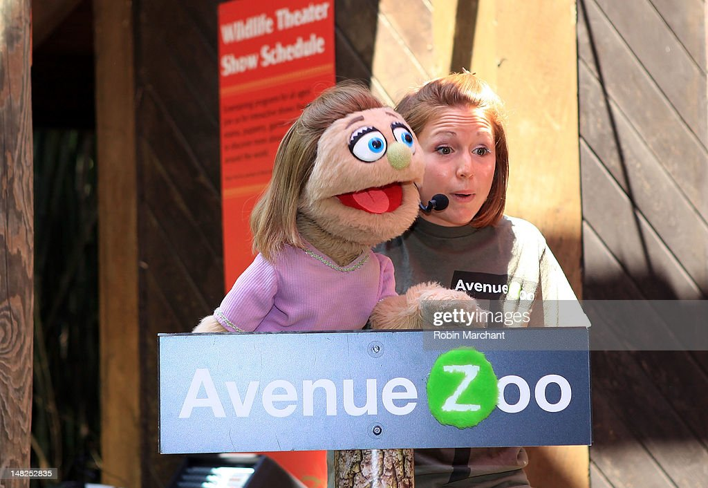 Kate Monster, Michelle Dumoulin, of Avenue Zoo visits at Bronx Zoo on July 12, 2012 in New York City.