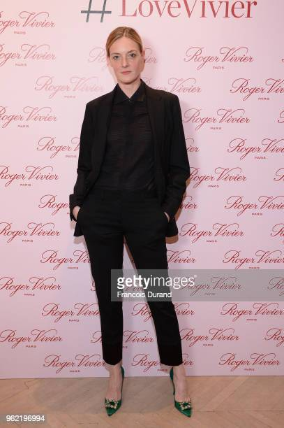 Kate Moran attends Roger Vivier '#LoveVivier' Book Launch Cocktail on May 24 2018 in Paris France