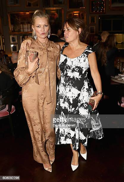 Kate Moss and Alexandra Shulman attends the Business of Fashion #BoF500 Gala Dinner at The London EDITION on September 19 2016 in London England