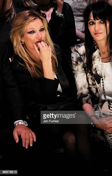 Kate Moss and Annabel Nielsen at the Fashion for Relief show for London Fashion Week Autumn/Winter 2010 at Somerset House on February 18 2010 in...