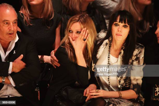 Kate Moss and Annabelle Neilson attend Naomi Campbell's Fashion For Relief Haiti London 2010 Fashion Show at Somerset House on February 18 2010 in...