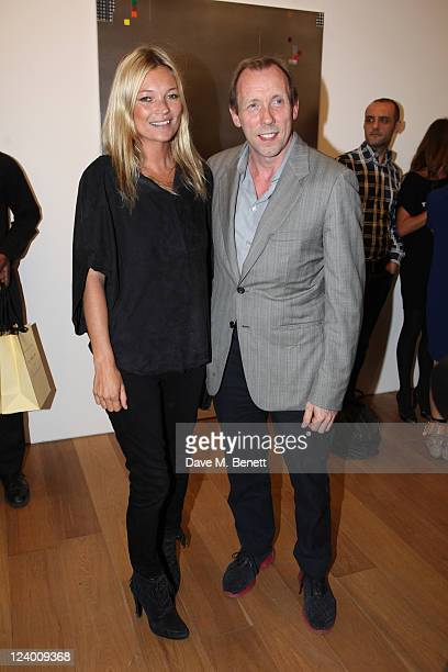 Kate Moss and David Dawson attend the debut screening of a short film collaboration between Bella Freud and director Martina Amati at Max Wigram...