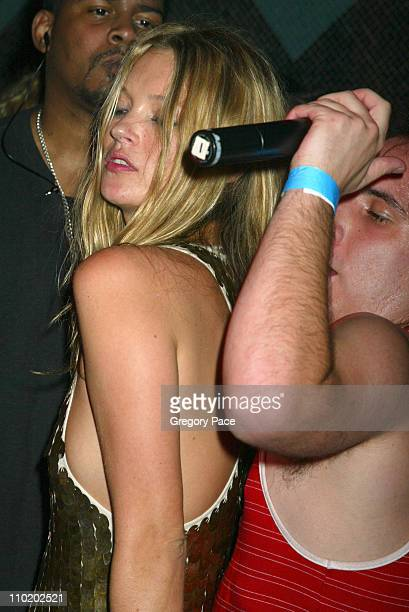 Kate Moss and Har Mar Superstar during Picture This Debbie Harry and Blondie by Mick Rock Book Launch Party Inside at Hiro Ballroom at The Maritime...