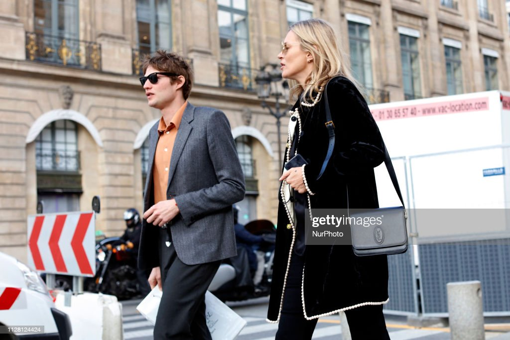 Kate Moss And Her Boyfriend Nikolai Von Bismarck In Paris : News Photo